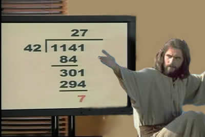 Jesus struggled with simple multiplication tables and failed introductory math twice.
