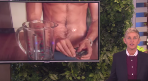 Ellen forced Peruvian chef to take his clothes off while cooking