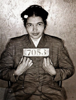 Rosa Parks the day she was allegedly menstruating