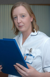 Nurse with clipboard