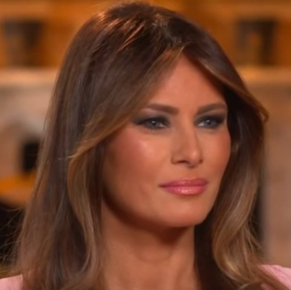 Melania minutes after crying