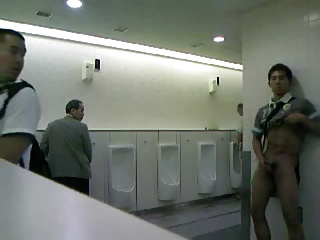 Japanese male worker masturbates as required by management