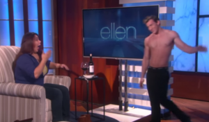 "Dancer paid to strip and be fondled by women as they drank alcohol on ""ellen"""